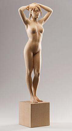 Female Nude - Linden wood by Richard Senoner