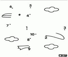 desenho de Um pássaro, ponto a ponto para colorir