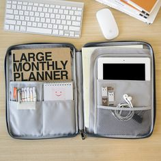 This is collection version it comes with pouch, large monthly planner, pens and more. Please buy pouch individually, planner & pens individually (all on this pinterest board)