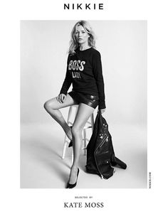 kate moss, selected by kate moss, NIKKIE, ad campaign, clothing, fashion