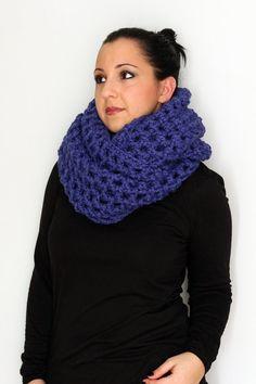 Cobalt Blue Wool Acrylic Blend Oversized by CrochetConcepts, $85.00