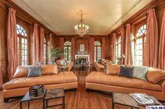 Grand, stately-styled living room
