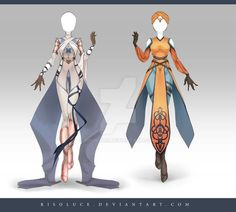 (OPEN) Adoptable Outfit Auction 162-163 by Risoluce.deviantart.com on @DeviantArt: