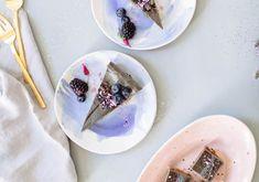Black Sesame Cheesecake Bars healthy dessert recipe on Nutrition Stripped