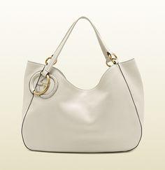Gucci - twill ostrich shoulder bag 309531A7MPT9022