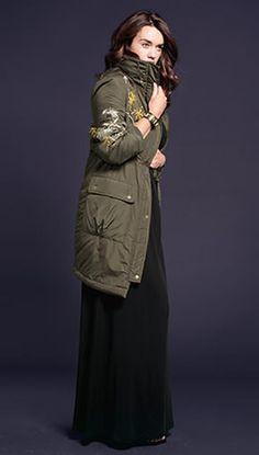 Anna Scholz for Sheego - Designermode in Großen Größen - plus size embroidered parka