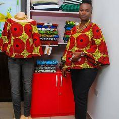 Ankara designs on Around Da korner African Print Dress Designs, Ankara Designs, African Print Dresses, African Print Fashion, Africa Fashion, African Dress, Ankara Styles, African Prints, Ankara Tops Blouses