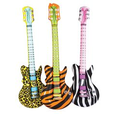 "40"" Inflatable Animal Print Guitars. Tweens and Teens love these. $2.99 each, $21.99 per dozen. http://www.partypalooza.com/Merchant2/merchant.mvc?Screen=PROD&Product_Code=InflGuitarAnPrint"