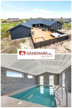 Denmark Holiday house in Søndervig Luxury Homes Dream Houses, Luxury Homes Interior, Familienfreundliche Hotels, Pool House Designs, Dream Mansion, Container House Design, Container Houses, Barn House Plans, Small Pools