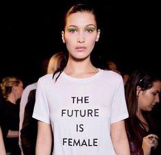 The Future is female @prabalgurung     #tee #fashion #slogan #prabalgurung #runway #catwalk #NYFW