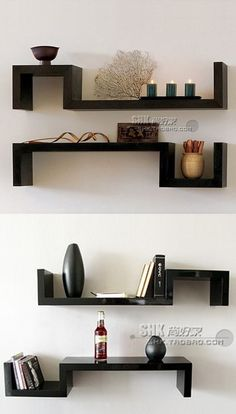 полка Bedroom Cupboard Designs, Living Room Designs, Living Room Decor, Unique Wall Shelves, Wall Shelf Decor, Diy Furniture Easy, Do It Yourself Furniture, Bookshelf Design, Wall Shelves Design