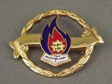 Salvation Army Blood & Fire brooch