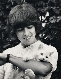 George Harrison and friend