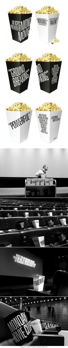 Monday Movie Club Popcorn Boxes