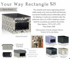 Your Way Rectangle Bin. Perfect for #storage. Store seasonal items or in my case #soccergear. Many uses!