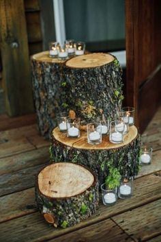 Lindsay and Albert's Idaho City Mountain Elopement - Mountain Wedding Ideas Wedding Centerpieces, Wedding Table, Rustic Wedding, Wedding Decorations, Wedding Ideas, Hall Decorations, Prom Ideas, Forest Wedding, Centerpiece Ideas