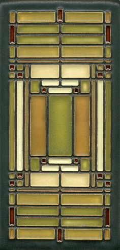 Another Frank Lloyd Wright tile for inspiration.        - all flows from 'Prairie style' FLW