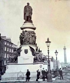 O'Connell Street in the Ireland Pictures, Old Pictures, Old Photos, Vintage Photos, Irish Independence, Photo Engraving, Dublin City, Local History, Dublin Ireland