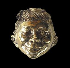 Bronze Alfred E. Neuman Comic Character Ring-Custom Size-Free Shipping #Handmade #StatementFamousFace
