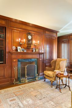 Study Mansion Old Greenwich New York Traditional Family Room