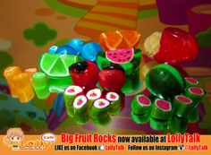 #big #fruitrocks #handmade #candy Limited stocks available. #rockcandy #fruits #candy #lolly #bonbon #sweets