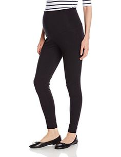 Maternal America Womens Maternity Quilted Knee Motorcycle Leggings Black Small
