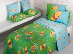 Disney Winnie the Pooh Copriletto Trapuntato Caleffi 2013 - Kids bed quilt and sheets