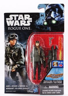 Sergeant Jyn Erso (Eadu) Action Figure Star Wars Rogue One Collection 2016 New! Star Wars Characters Pictures, Star Wars Action Figures, Star Wars Toys, July Crafts, All Toys, Toy Sale, Rogues, Seal, Canada Post