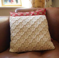 Cable Knit cojín almohada cubierta crema AVEBURY