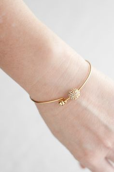 Gold Bracelets : Gold Pave Bead Bangle Gold Pave Bead Bangle Sharing is caring, don't forget to vote for this Bracelets ! Gold Jewelry Simple, Gold Rings Jewelry, Pendant Jewelry, Jewelery, Jewelry Bracelets, Gold Bangle Bracelet, Beaded Bracelet, Diamond Bracelets, Accesorios Casual