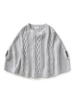 Girls Knitwear & Jumpers | Cable Poncho | Seed Heritage