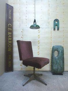 VINTAGE EVERTAUT INDUSTRIAL SALVAGE OFFICE CHAIR ELEMENTAL 1950s SINGER STEEL   eBay £130