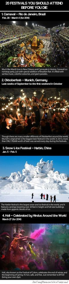 Festivals you should attend before you die...