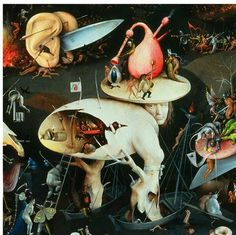 Hieronymus Bosch was an important medieval Christian artist; and his artistic themes represent a now bygone idea about the cosmos… the world. Bosch's depictions of Hell retain their powerful creepiness even to this day. Hieronymus Bosch, Garden Of Earthly Delights, Dutch Painters, Fine Art, Middle Ages, Dark Art, Oeuvre D'art, Art History, Renaissance