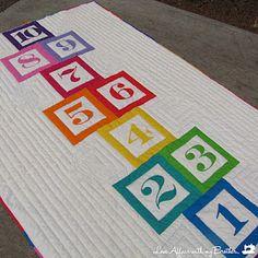 Hopscotch Quilt Tutorial - would make a great kids quilt back.