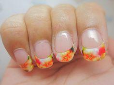 Summer French Nails | chichicho~ nail art addicts