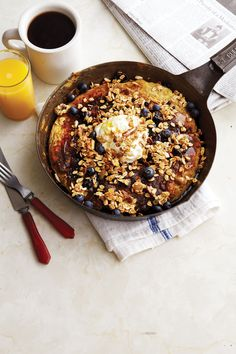 blueberry quinoa pancakes with lemon crema