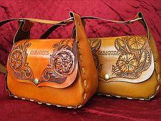 Весенняя сумочка из кожи с гравировкой   Ярмарка Мастеров - ручная работа, handmade