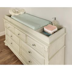 """Oxford Baby Mid-Century Claremont Changing Topper - Antique White - Oxford Baby - Babies """"R"""" Us"""