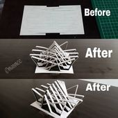 Model Folding model done by me! More to fo Concept Models Architecture, Maquette Architecture, Architecture Model Making, Conceptual Architecture, Pavilion Architecture, Architecture Design, Landscape Architecture Model, Fashion Architecture, Concrete Architecture