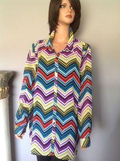 Lane Bryant Blouse Tunic Women's Plus Size  22/24 Multicolor Designer Fashion   | eBay