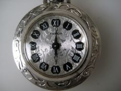Vintage FAVOR Schwesternuhr Kettenuhr Silber 835 gepunzt