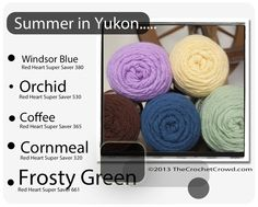 Red Heart Super Saver Color Mix: Summer in Yukon