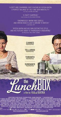 The Lunchbox (2013) gorgeous movie, again, food bringing us together