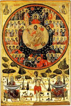 Cathedral of All Saints Century) Icon Orthodox Catholic, Catholic Art, Byzantine Icons, Byzantine Art, Religious Icons, Religious Art, Greek Icons, Church Icon, Renaissance Kunst