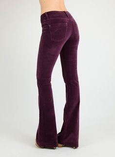 James Jeans Juliette Velveteen plum flare jeans - Google Search