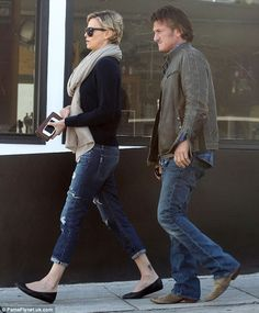 Charlize Theron in PAIGE Denim Jimmy Jimmy Crop in Willa Destructed