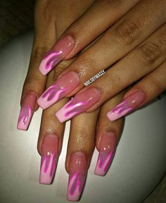 Nail Art Designs In Every Color And Style – Your Beautiful Nails Cute Acrylic Nails, Acrylic Nail Designs, Nail Art Designs, Hair And Nails, My Nails, Fire Nails, Nagel Gel, Gorgeous Nails, Trendy Nails