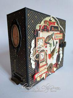 Gorgeous Bird Song album by Alexandra M Mini Scrapbook Albums, Mini Albums, Memory Album, Mini Album Tutorial, Family Album, Japanese Design, Graphic 45, Book Making, Mini Books