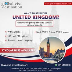 Scholarships In Uk, Uk Visa, Graphic Design Tips, Instagram Post Template, Book Layout, Study Abroad, Skin Treatments, Brochure Template, Ambition